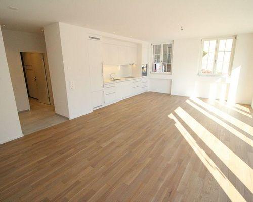 Miete: top-moderne Wohnung mit grossem Sitzplatz