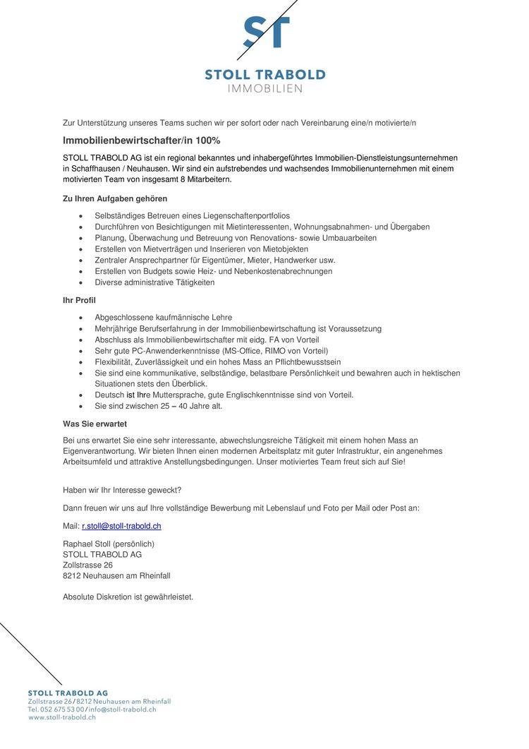 leb2 vl bewerbungsschreiben fr immobilie. stelleninserat im pdf ...